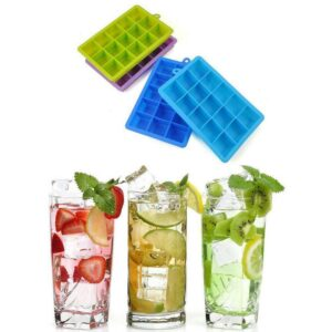 Pack Of 2 15 Big Grids Food Silicone Ice Cube Tray