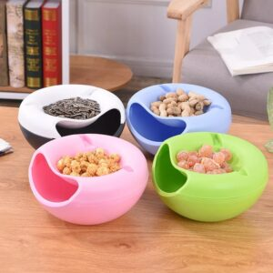 Creative Snack Bowls with Cellphone Stand Holder