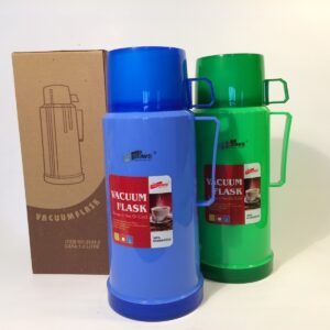 Double Cups Thermal Insulated Glass Vacuum Flask 1 Litre